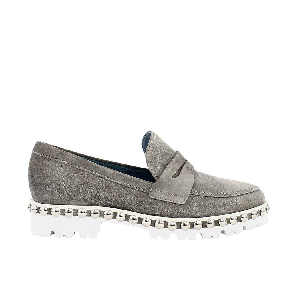Paul Green Grey Suede Loafer