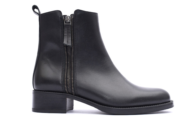 Alpe Black Leather Boot