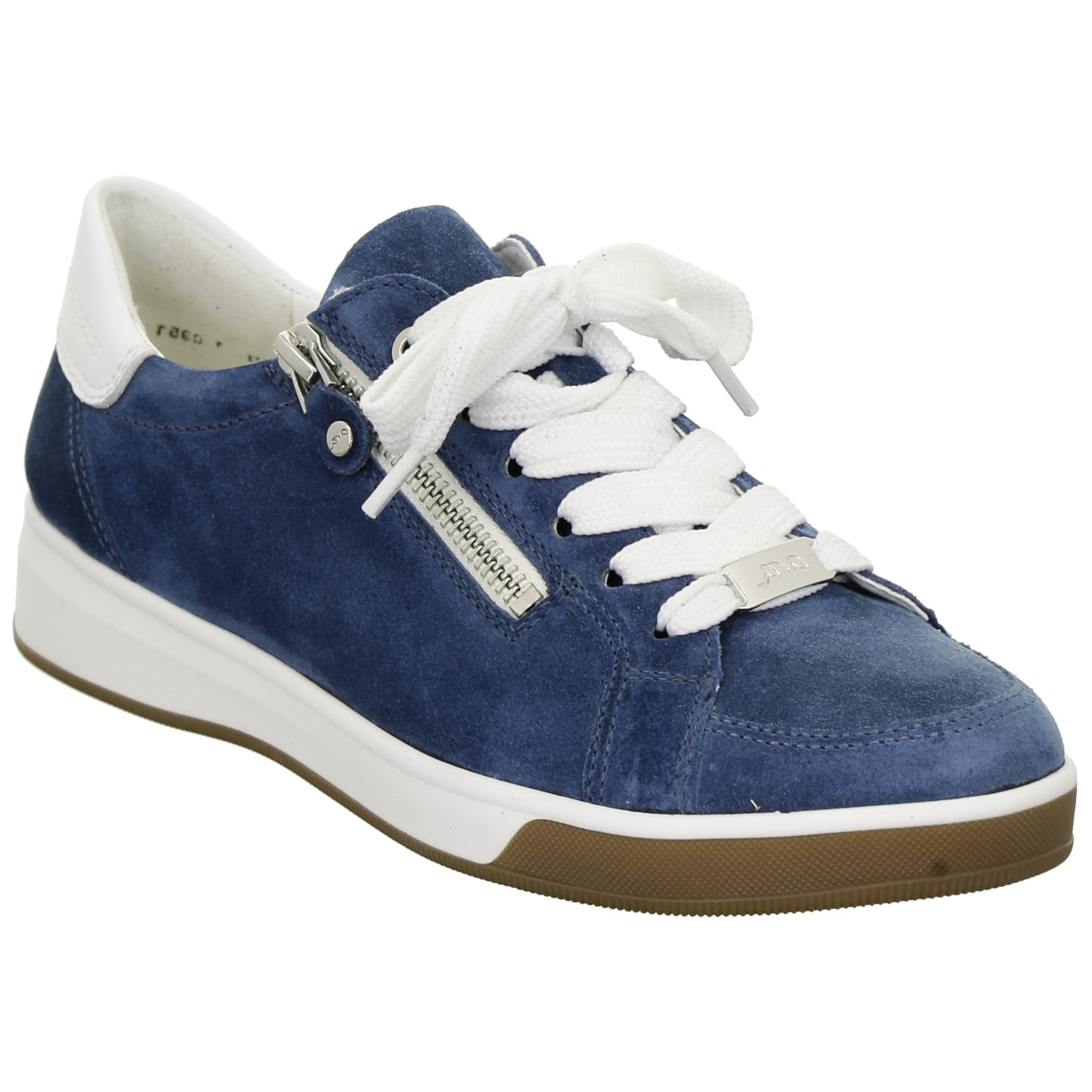 Ara Blue Suede Trainer