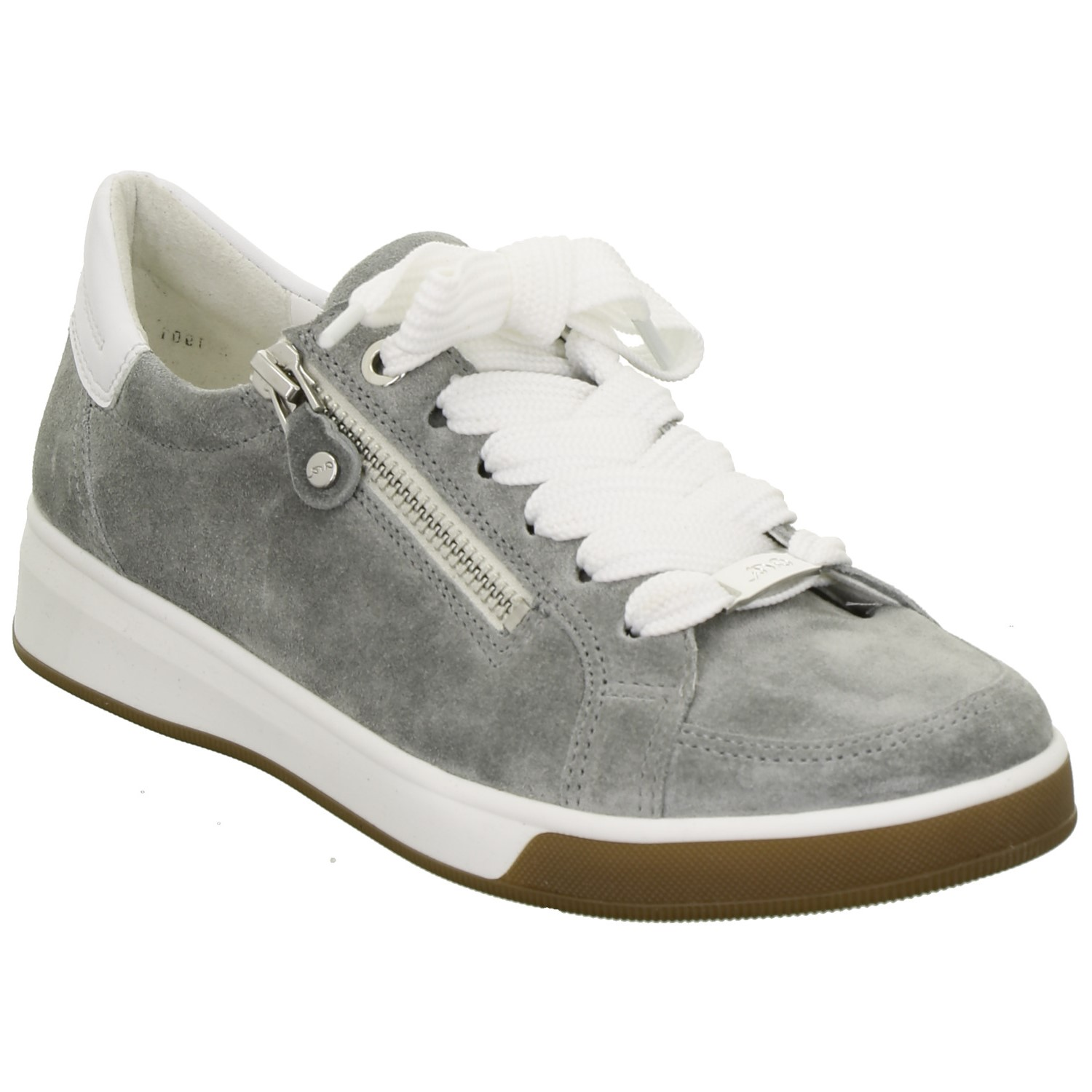 Ara Grey Suede Trainer