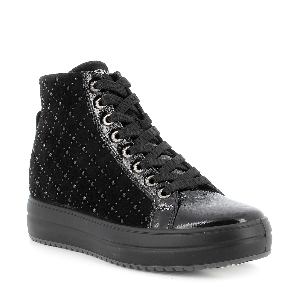 Igi&Co Black Studded Concealed Wedge