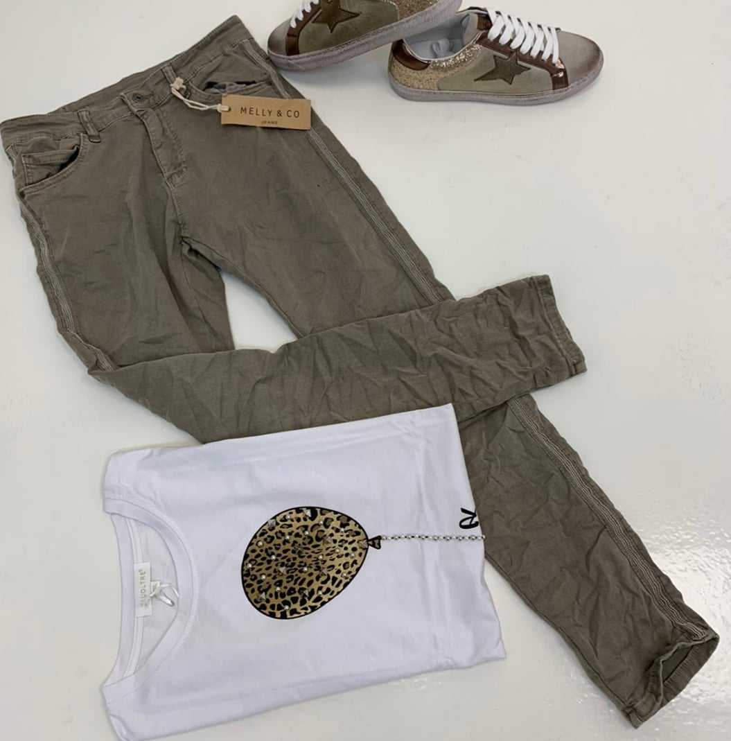 Melly Army Green Jeans