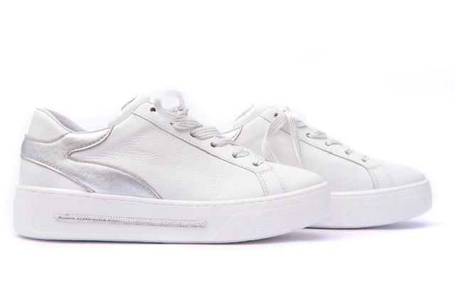 Alpe White/Silver Trainer