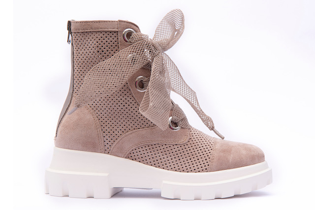 Alpe Nude Lace-Up Boots