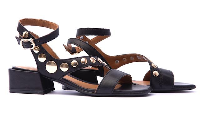 Alpe Black Heeled Sandal