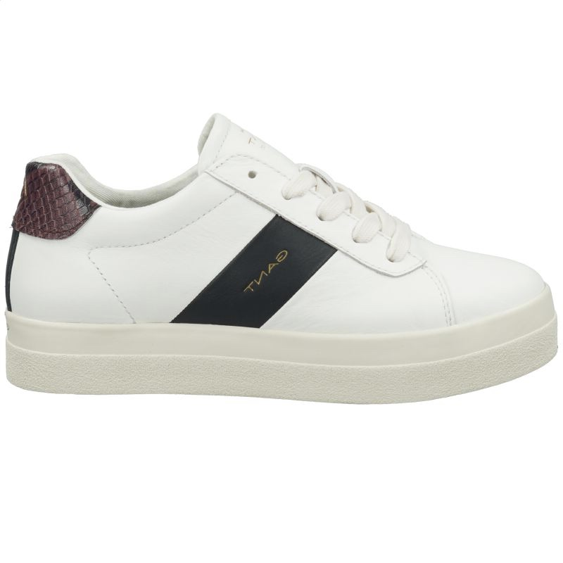 Gant White Leather Trainer