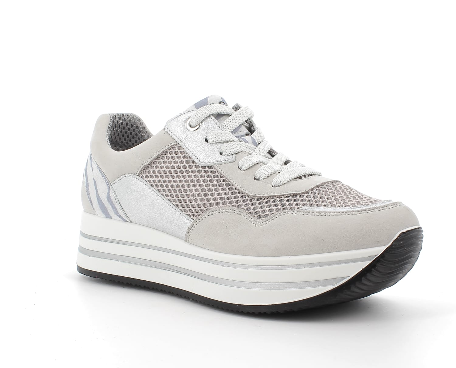 Igi&Co Light Grey Platform Trainer