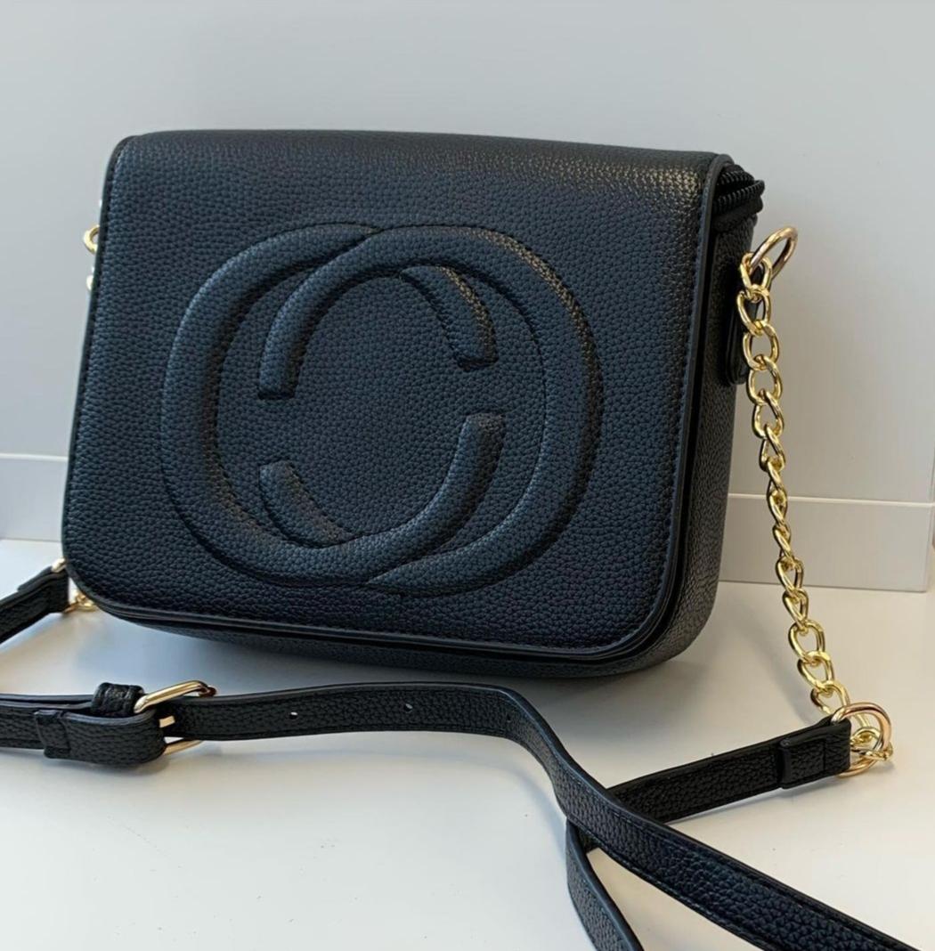 Black/Gold Cross-Body Bag