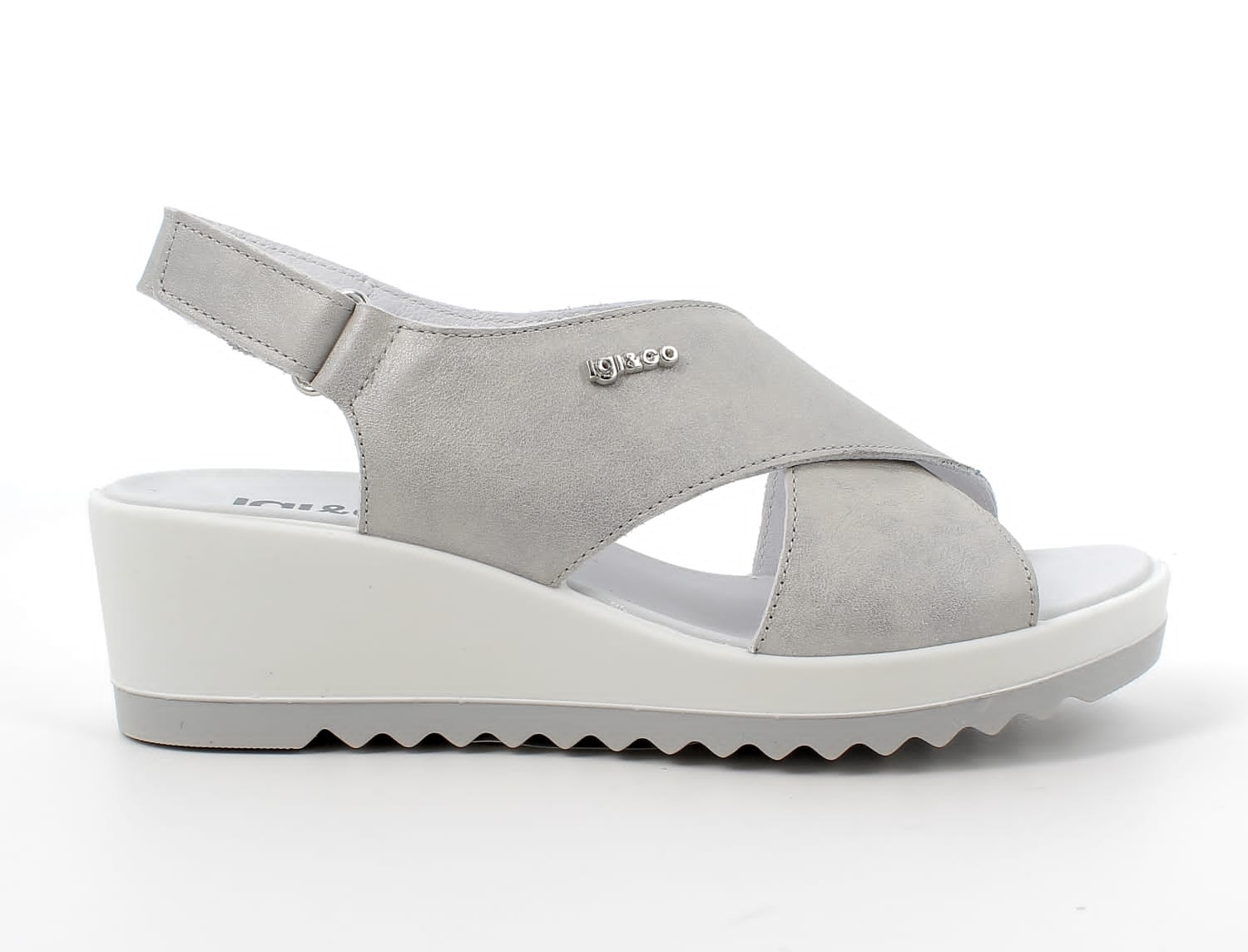 Igi&Co Grey Wedge Sandal