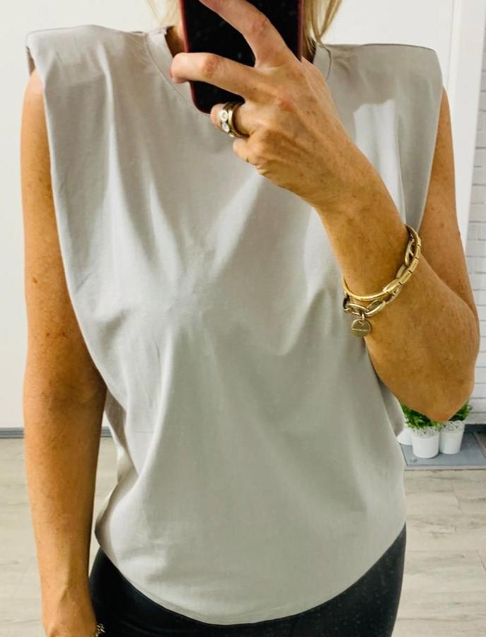 Grey Sleeveless T-Shirt