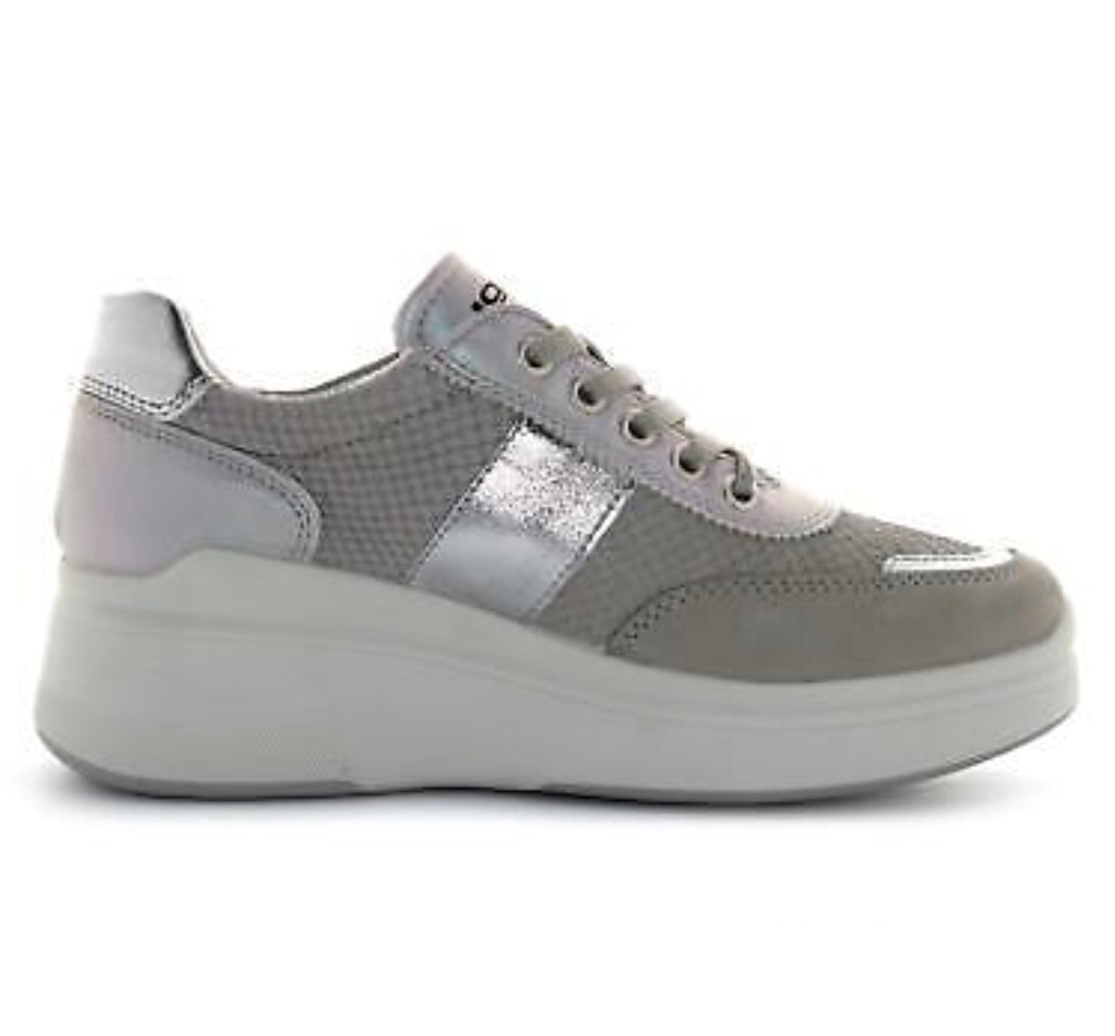 Igi&Co Grey Wedge Trainer