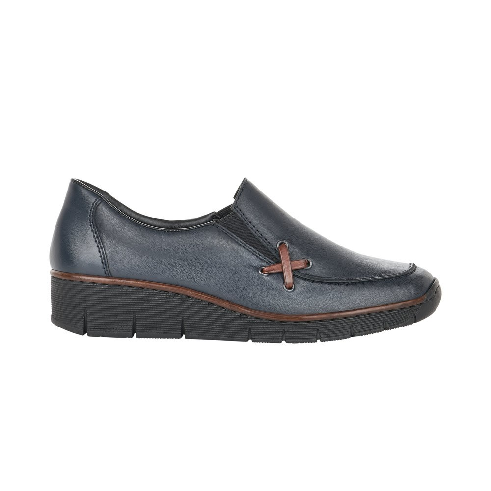 Rieker Navy Slip-On Shoe