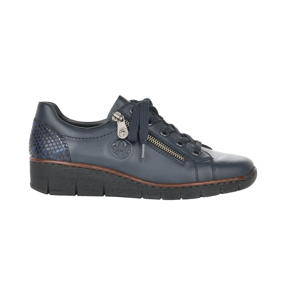 Rieker Navy Lace Trainer