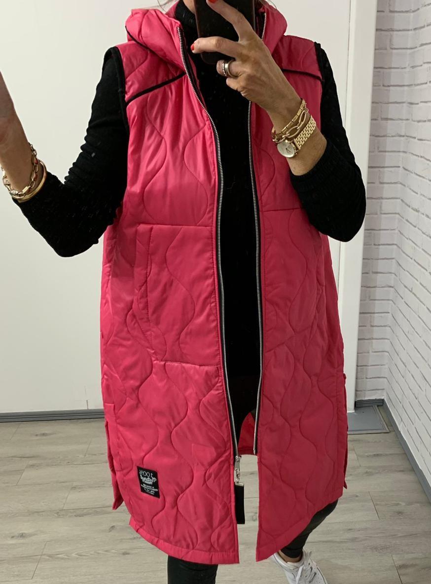 Long Pink Gilet